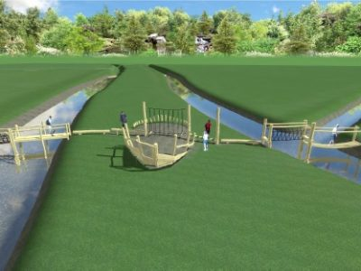 sponsor het beleefpad van Het Groniger Landschap, brug met schip